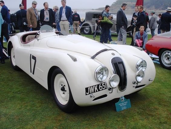 The special XK120 'JWK 651' awarded the Phil Hill Trophy
