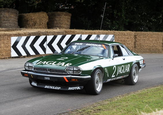 The 1985 Tom Walkinshaw Jaguar XJS was demonstrated up the famous Goodwood Hill by Bruce Canepa
