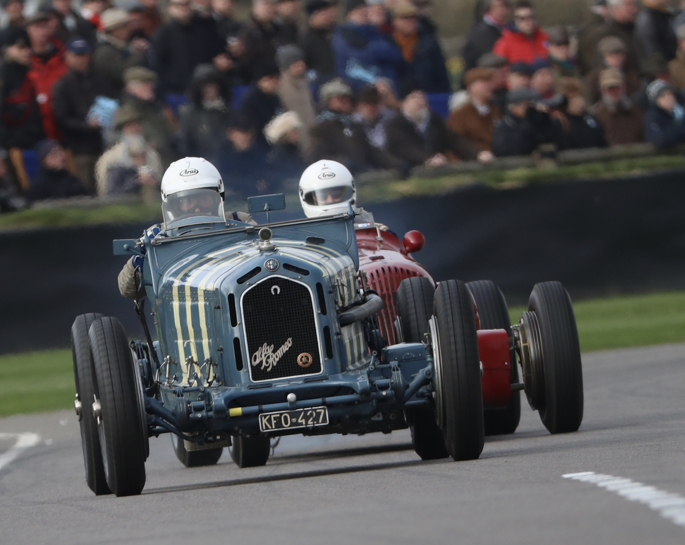 The Alfa Romeo 8C Monza of Derek Hood completed its first race with JD Classics without fault.