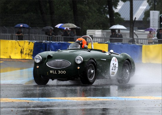 Having run well all weekend, the Austin Healey 100S of John Young acheived a 4th place in the weekend's overall results for Plateau 2.