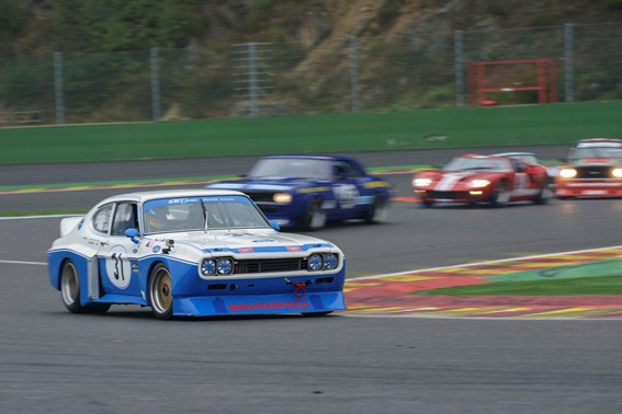 The Broadspeed Cologne Capri qualified in an impressive 2nd place ahead of the GT and Saloon Challenge Race