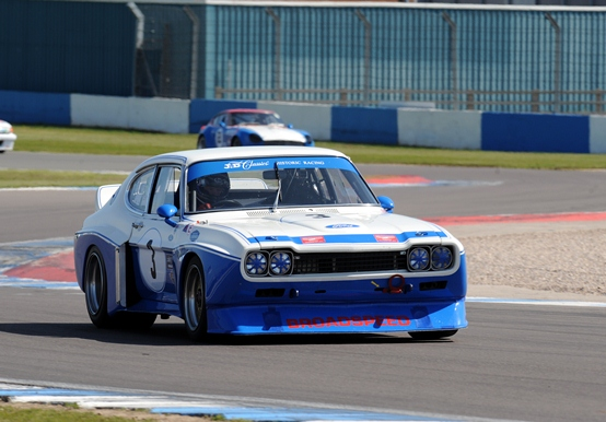 The Ford Cologne Capri was awarded a Championship class win within the Historic Touring Car Challenge