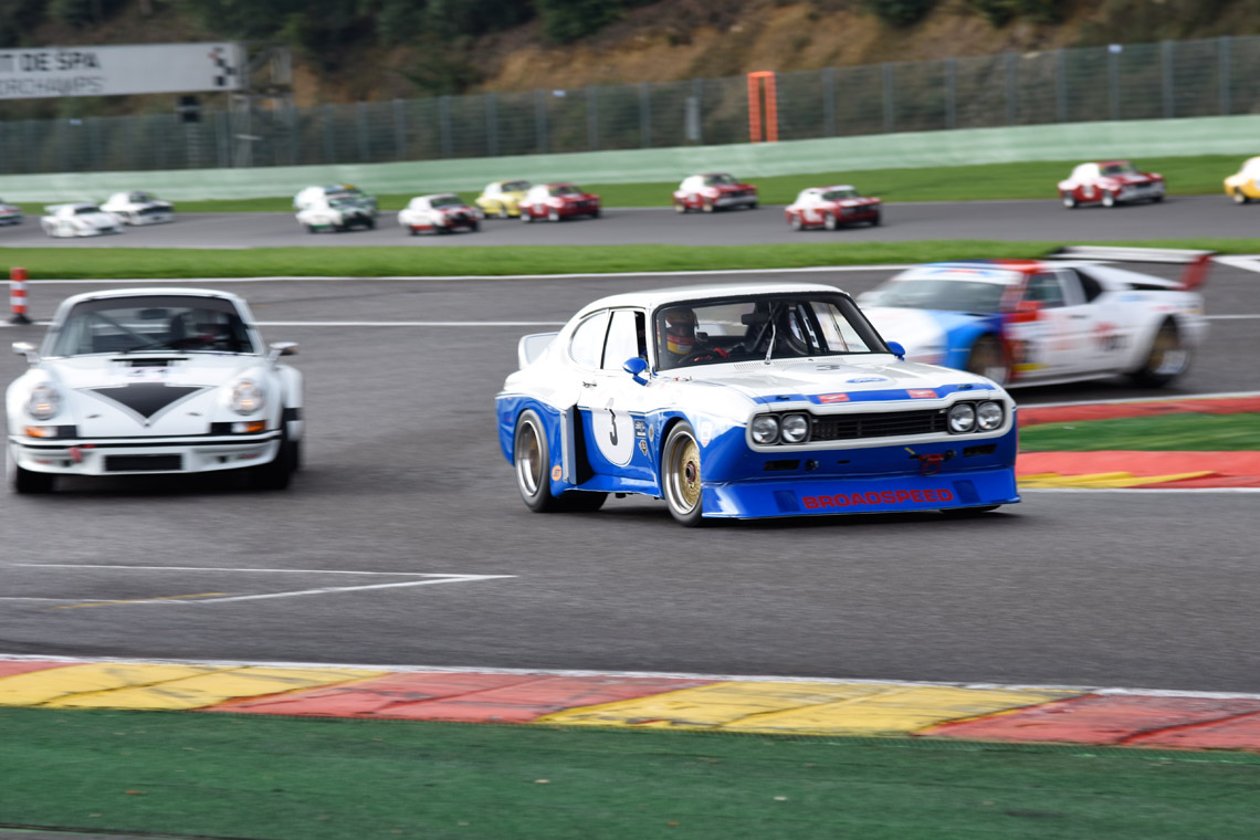 The Ford Cologne Capri of Chris Ward drove to an unrivalled win in Sunday's race