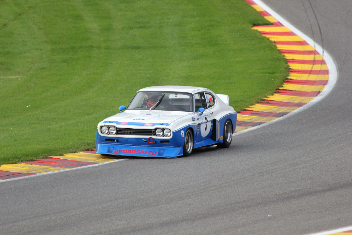 The Ford Cologne Capri of John Young and Chris Ward qualified in 2nd position for this weekend's combined Touring car race