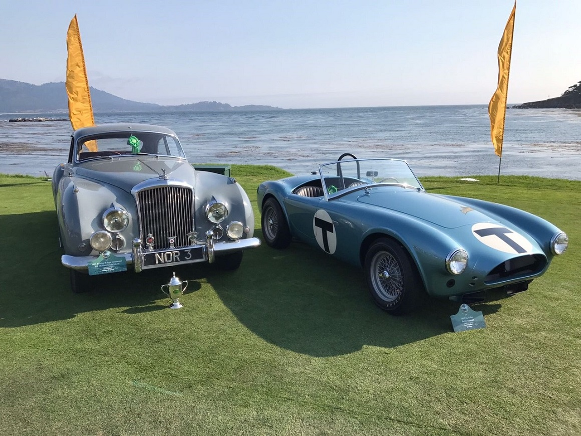 JD Classics were pleased to be awarded the coveted FIVA award for the best preserved and regularly driven car with their unrestored 1954 Bentley R-Type Continental