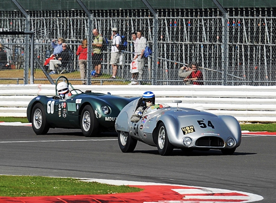 The Cooper T33 of John Young and Andrew Smith took victory in the second of the weekend's Woodcote Trophy Races