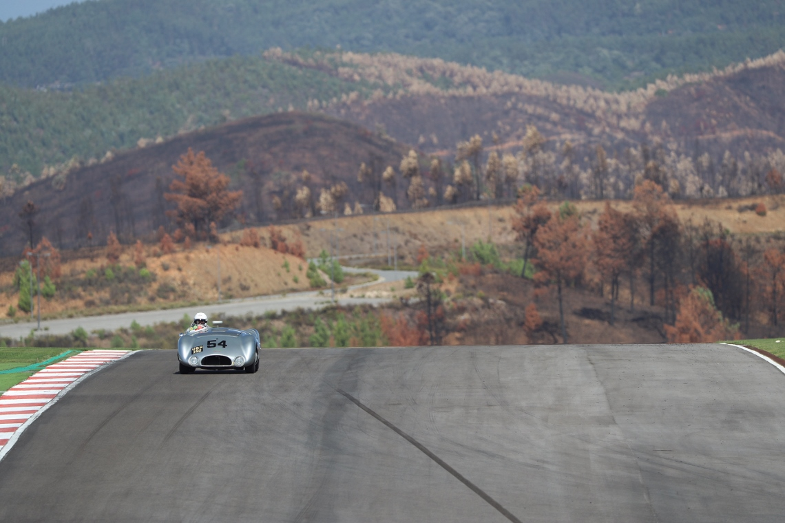 The Cooper T33 of Derek Hood and Chris Ward qualified in 11th for Saturday evening's two hour MRL 50s Sports Car race.