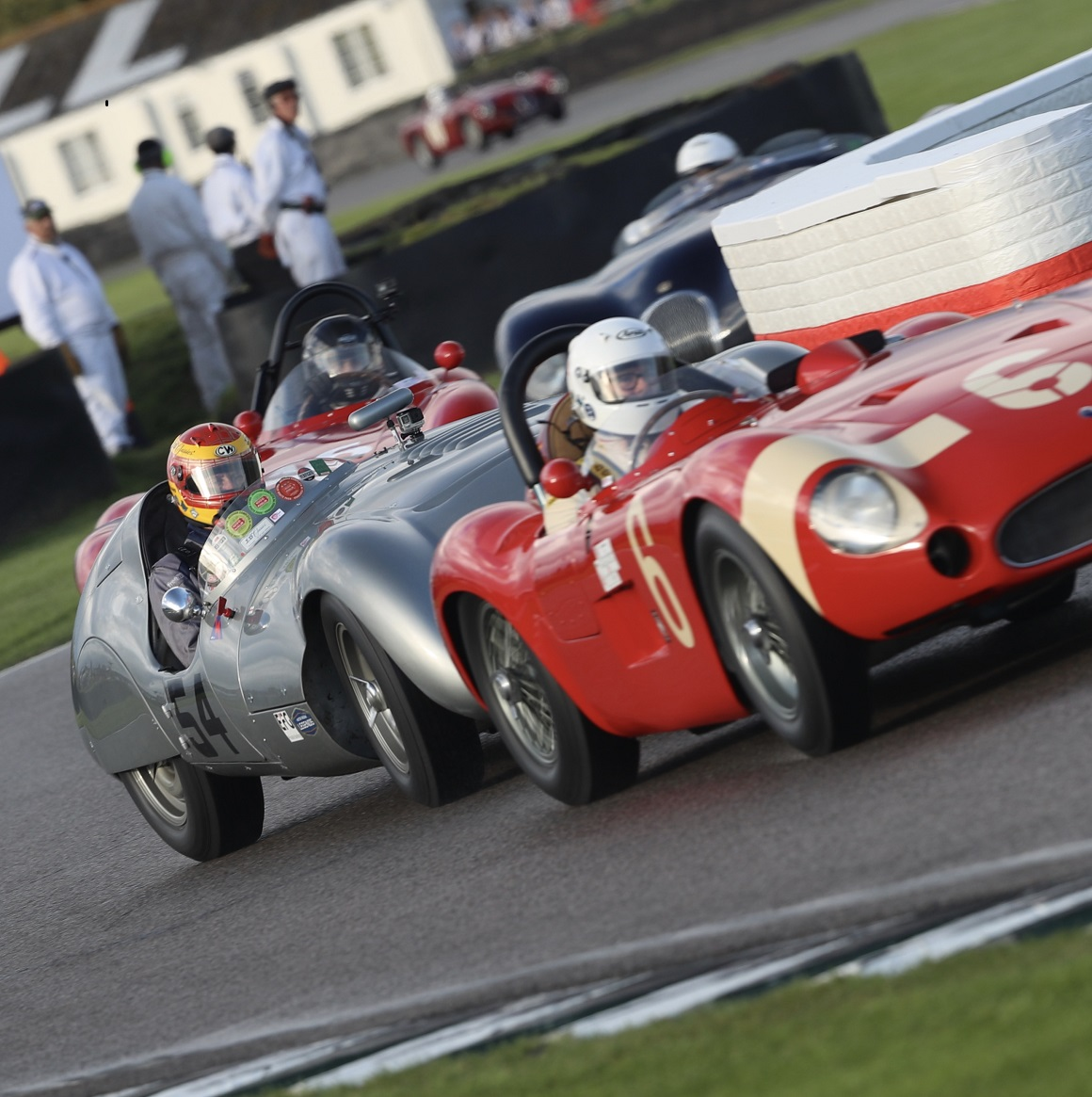 Starting the race from the back of the grid, the Cooper T33 charged from the back of the grid to the front to claim another victory in the Freddie March Memorial Trophy.