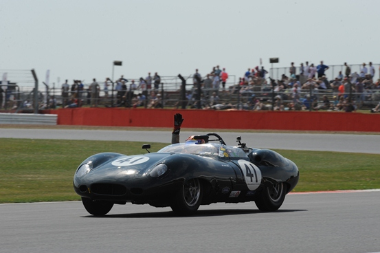 The 1959 Costin Lister driving to another unrivalled victory within the Stirling Moss Trophy