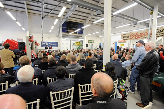 Our guests flocked to the main workshop in their droves to hear Sir Stirling Moss talk