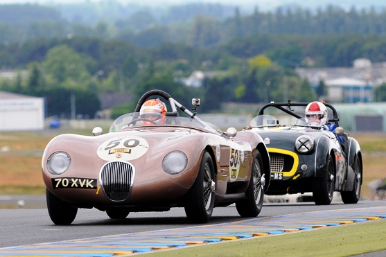 The ex-Fangio C-Type dominated Plateau 2, with Alex Buncombe driving to 1st, 1st and 3rd respectively