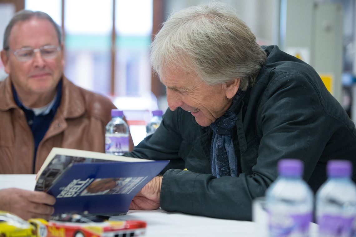 Having entertained our audience with stories from his prolific career, Derek Bell spent time signing autographs and taking photographs to conclude another successful breakfast morning at JD Classics in 2016.