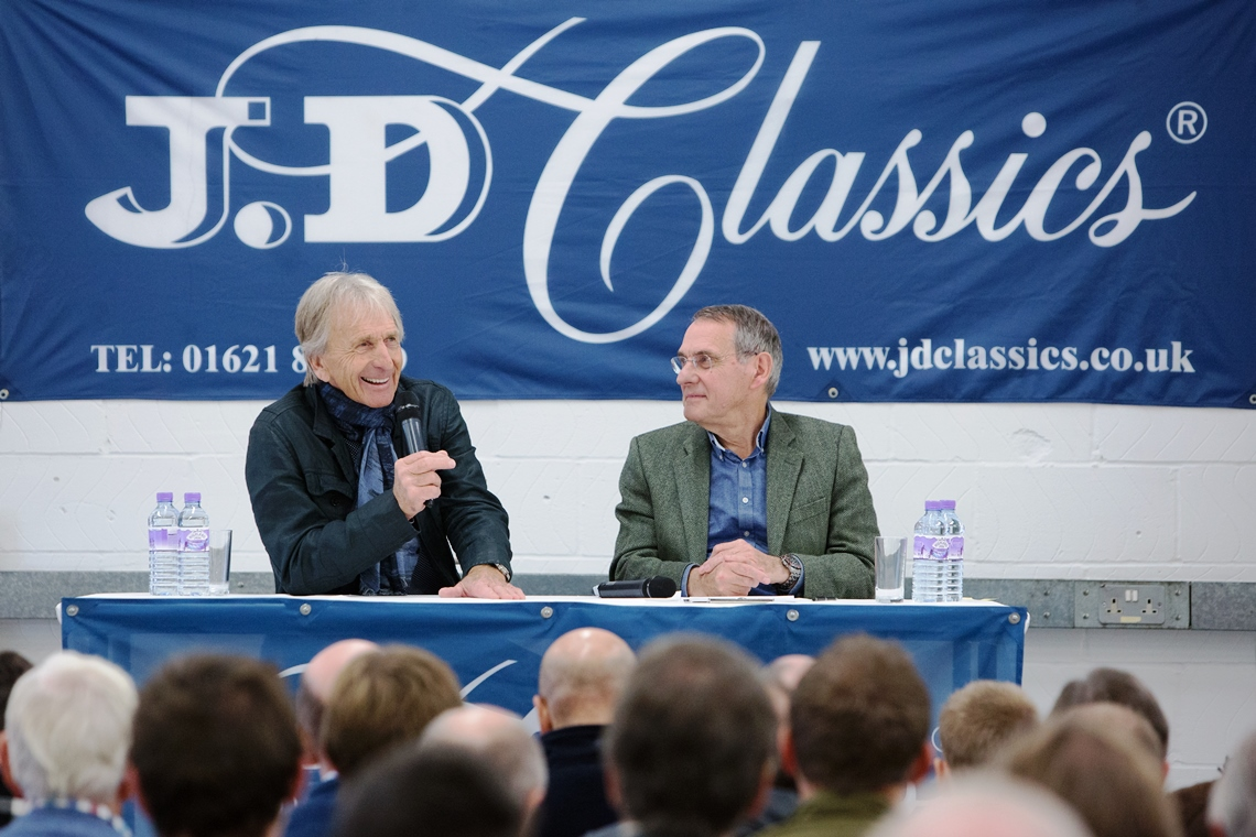 Compere Simon Taylor led the conversation with Derek Bell MBE in front of a captivated audience