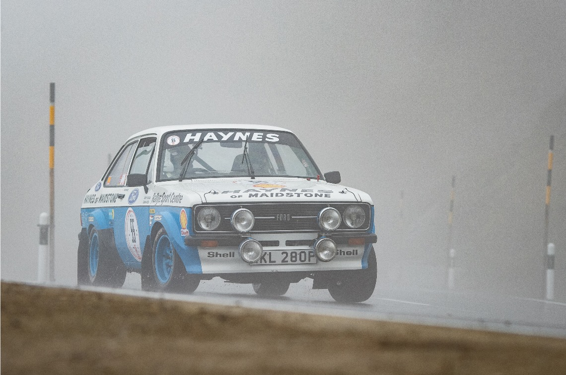 The Ford Escort RS1800 of Phil Mouser ran well to finish first within Class H.