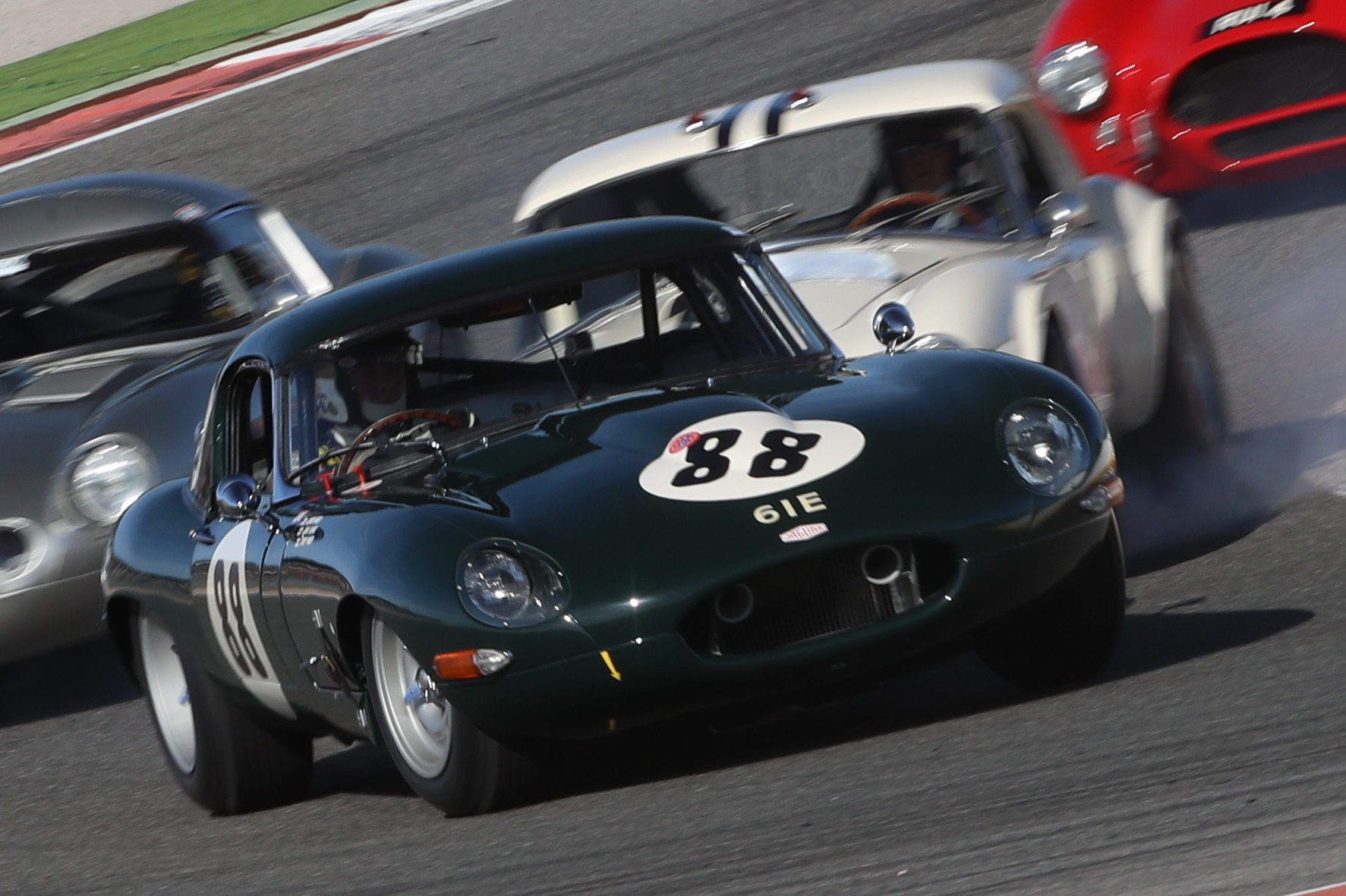 The JD Classics Jaguar E-Type fended off fierce competition to claim a well-deserved victory in the GT & Sports Car Cup race.