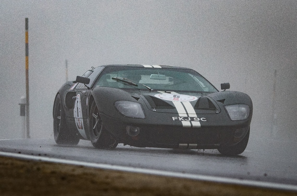 The GT40 of Derek Hood finished the weekend in an impressive sixth place overall