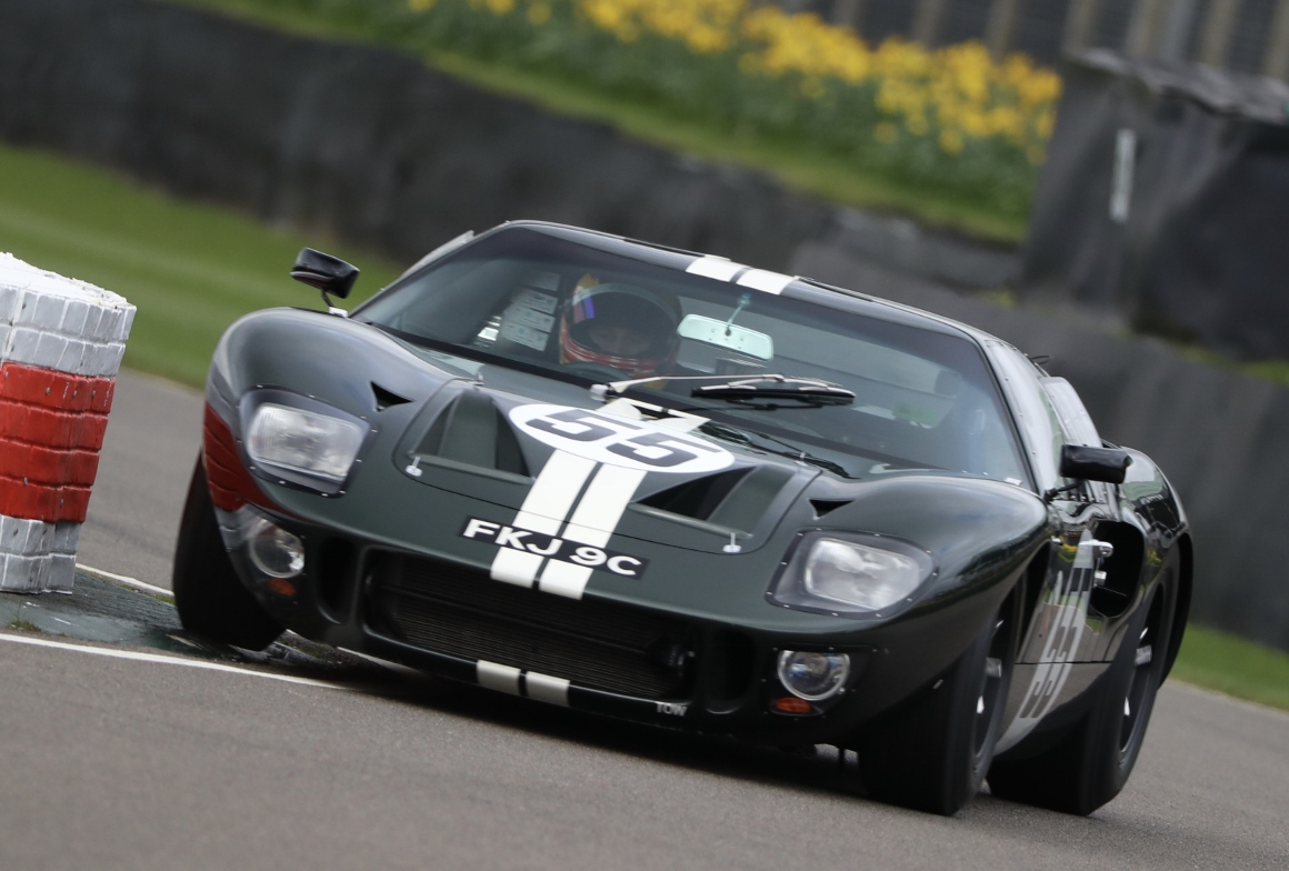The Ford GT40 qualified in 8th place ahead of Sunday's Surtees Trophy race.