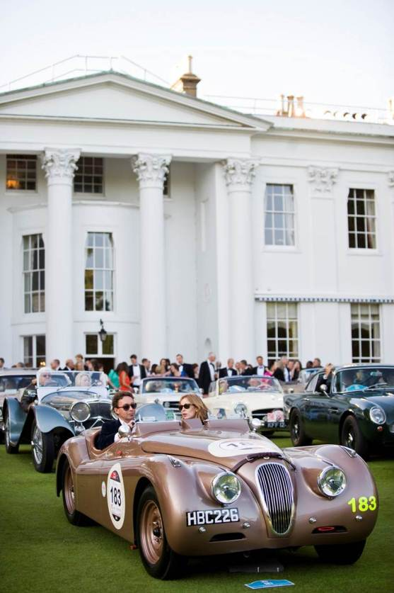 The ex-Salvadori Jaguar XK120 takes pride of place in the ground's of Fulham's prestigious Hurlingham club.