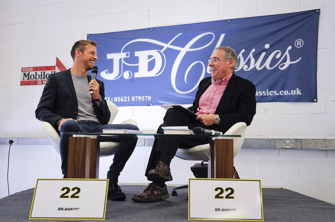 In front of a packed workshop, Jenson Button candidly discussed his illustrious racing career from go-karts to winning the 2009 Formula One World Championship