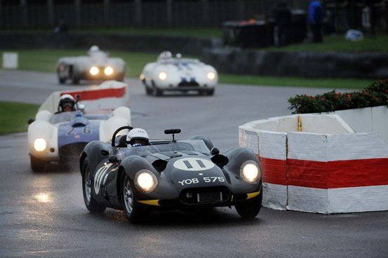 Under torrential weather conditions, the Lister Knobbly drove a consistent race in the Sussex Trophy