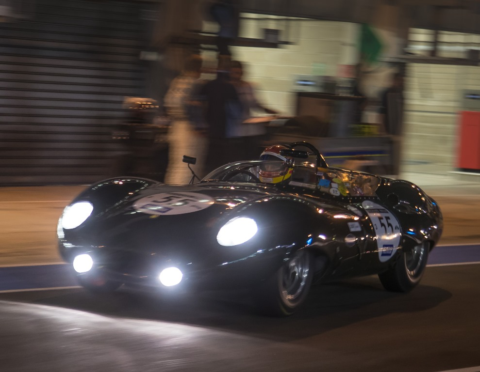 Having claimed an unrivalled pole position during Friday's qualifying session, the Costin Lister of Chris Ward took advantage of the night practice in order to familarise the car with the complex La Sarthe circuit