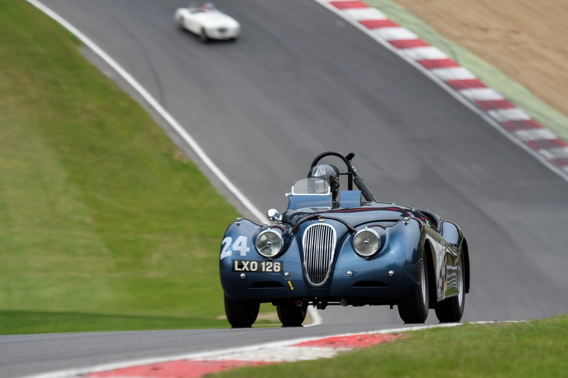 The Ecurie Ecosse Jaguar XK120 of Steve and Josh Ward acheived a well deserved second in class within the Woodcote Trophy