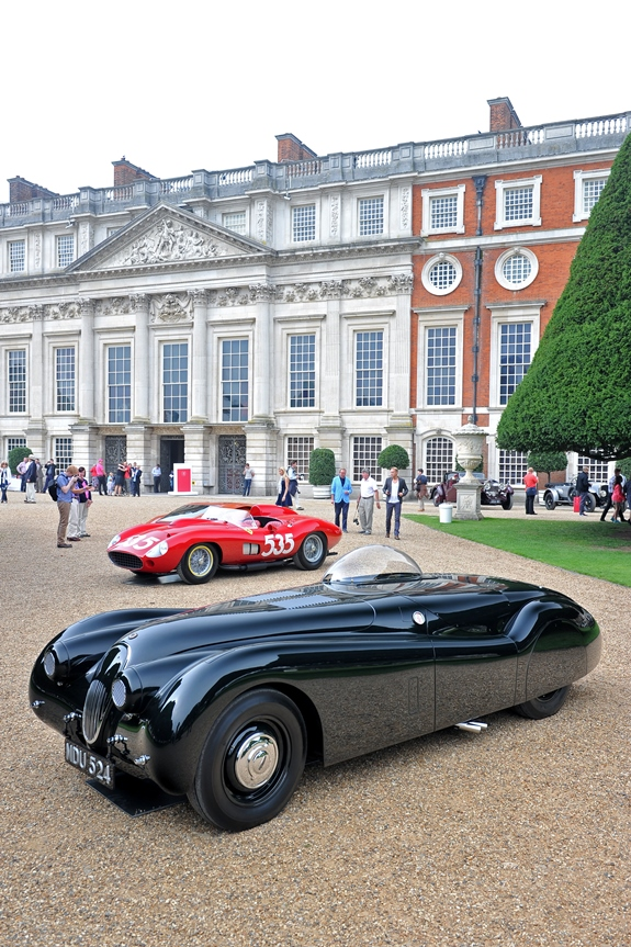 The famous Jabbeke XK120 took centre stage on static display at this year's Hampton Court Concours of Elegance