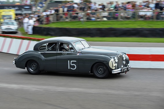 The Jaguar MK7 of Derek Hood and Amanda Stretton performed consistently throughout the weekend