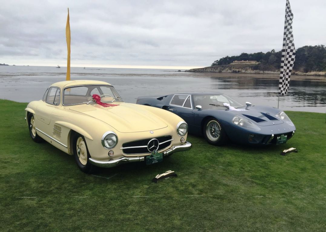 Both the Mercedes Alloy Gullwing Coupe and Ford GT40 Mark III Prototype were awarded 2nd and 3rd places respectively within each of their classes at the 2016 Pebble Beach Concours d'Elegance