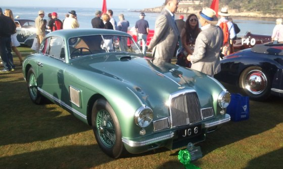 The 1950 Aston Martin DB2 Saloon took pride of place on the 18th fairway having been awarded 3rd place in its Post-war Touring class