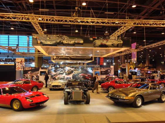 JD Classics' extensive 11 car display takes pride of place at the 2014 Retromobile