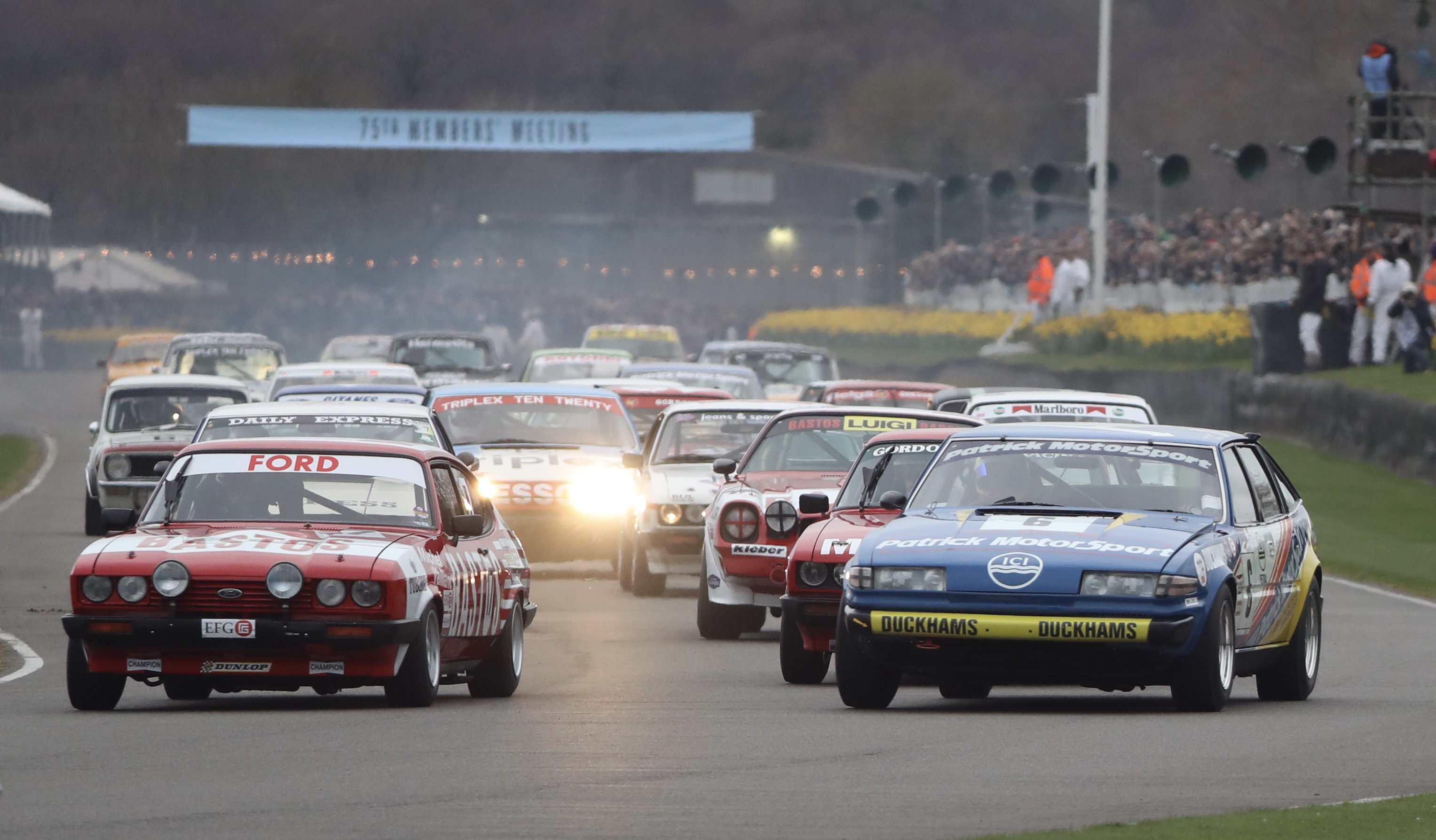 The JD Classics Patrick Motorsport Rover SD1 got away to a flying start during the Gerry Marshall Trophy race