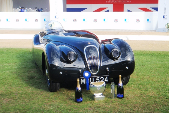 The 1952 Jabbeke World Record XK120 took the coveted Best of Show award at this year's Chubb Insurance Concours d'Elegance at Salon Prive