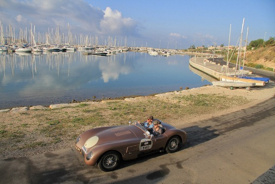 The ex-Fangio C-Type taking part in Sicily's Targa Florio